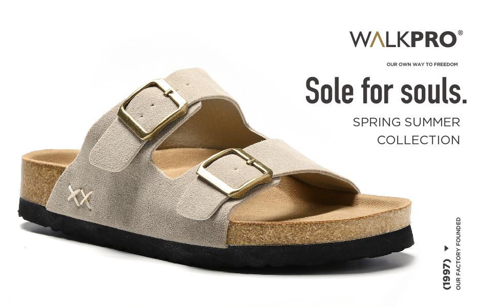 Flat Sandals For Women Slippers Slides Sandal For Women Size 10 Womens Arch Support White Black Cork