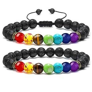 2pcs 7 chakra bracelet