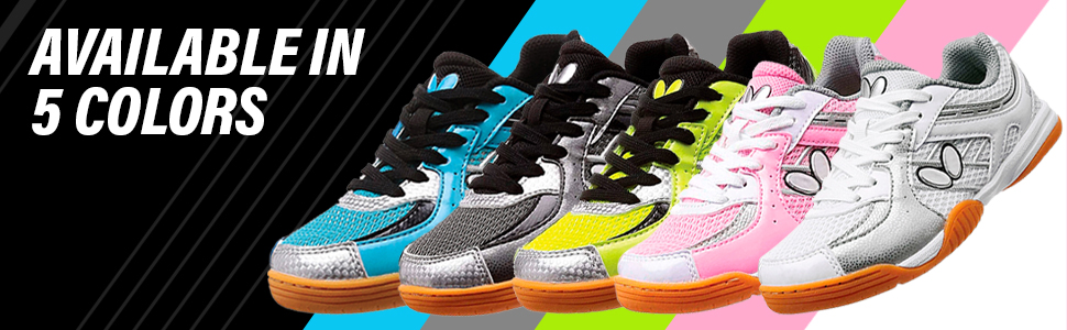 Butterfly Lezoline SAL Table Tennis Shoes: Available in 5 Colors