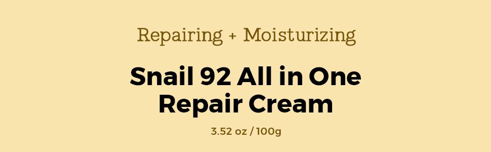 repairing moisturizing COSRX snail 92 all in one repair cream