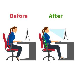 Lumbar cushion office chair