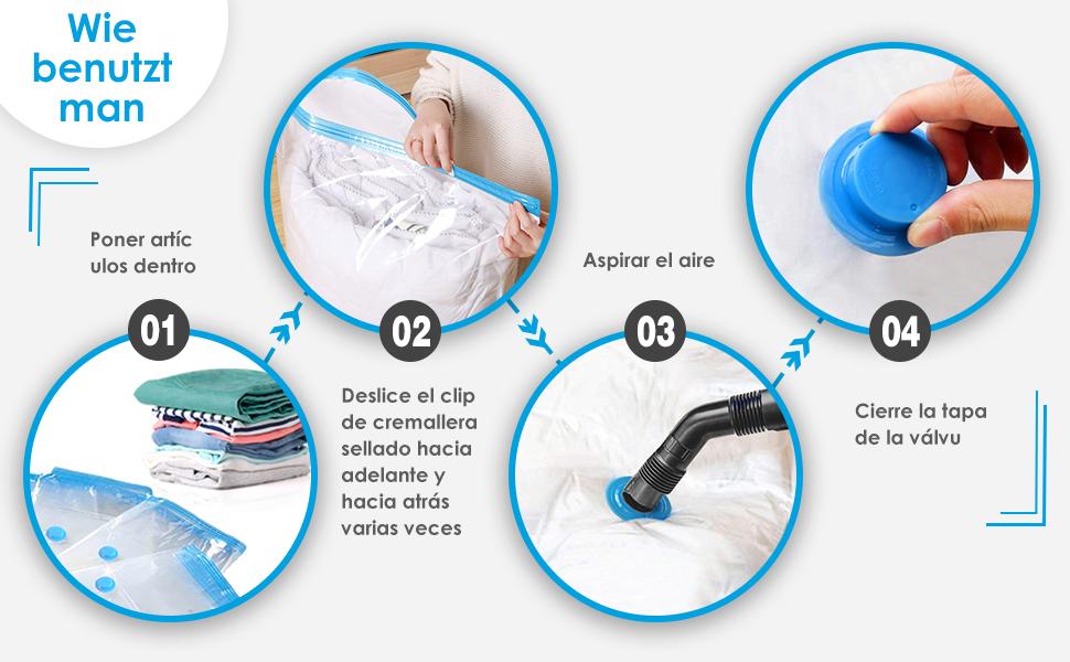 bolsas vacío ropa viaje