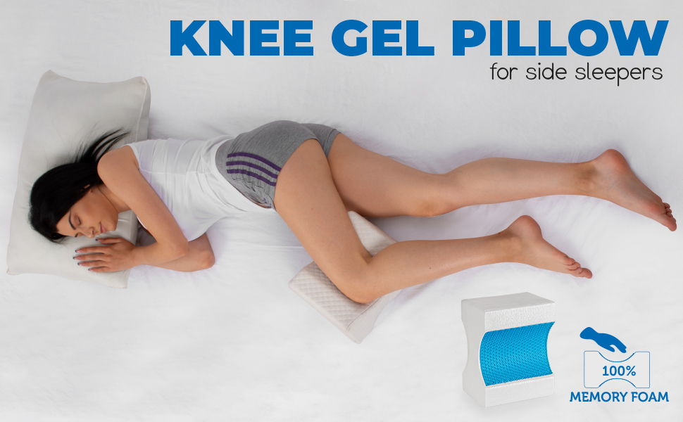 girl in bed with knee pillow