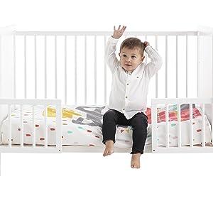 cuna convertible en cama cama infantil kit barandillas cuna resistente madera haya
