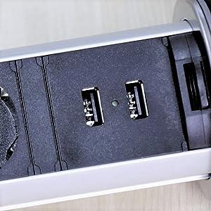 Avec ports USB