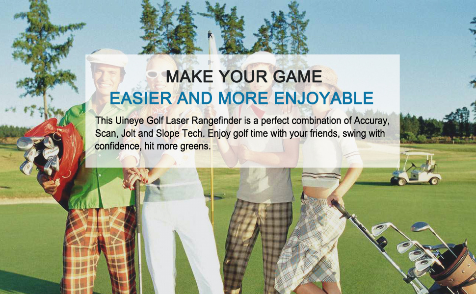 Enjoy golf game with your friends with this golf rangefinder