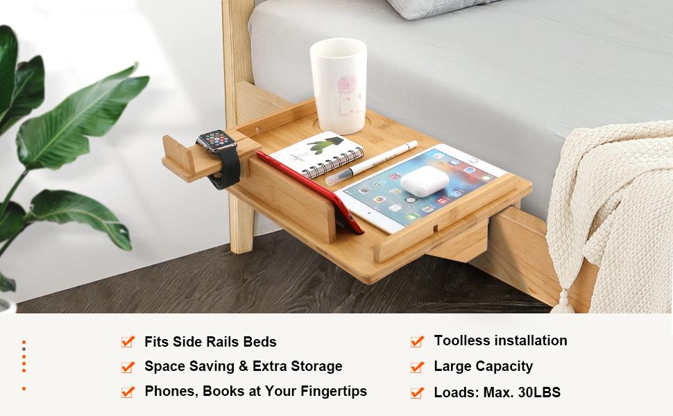 hydaa dormitorio mesilla de noche para colgar de almacenamiento Suministros escritorio esquina estantes cesta soporte contenedores para oficina en casa