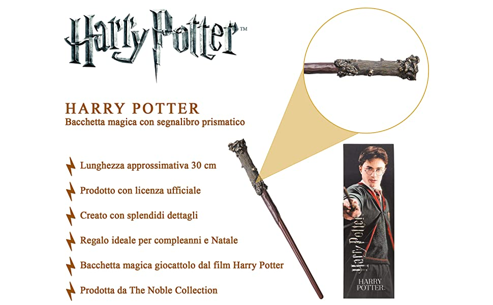 The Noble Collection Harry Potter Wand & Bookmark Information