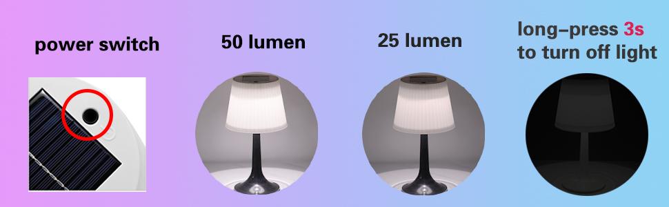 solar table light