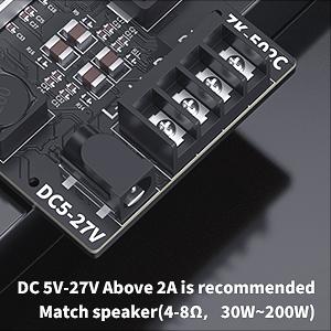 2 canaux Mini r/écepteur audio st/ér/éo sans fil Power Digital 3.5mm AUX Amp Module pour haut-parleurs passifs domestiques TPA3116D2 50W x 2 Fosi Audio ZK-502C Bluetooth 5.0 Amplifier Board