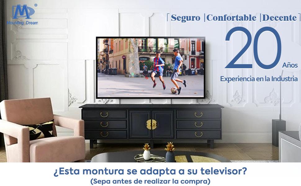 Mounting Dream Soporte de Pared TV Inclinable Soporte de ...