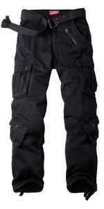 Amazon Com Raroauf Pantalones De Trabajo De Algodon Para Mujer 8 Bolsillos Holgados Tacticos De Combate No Se Encoge Clothing