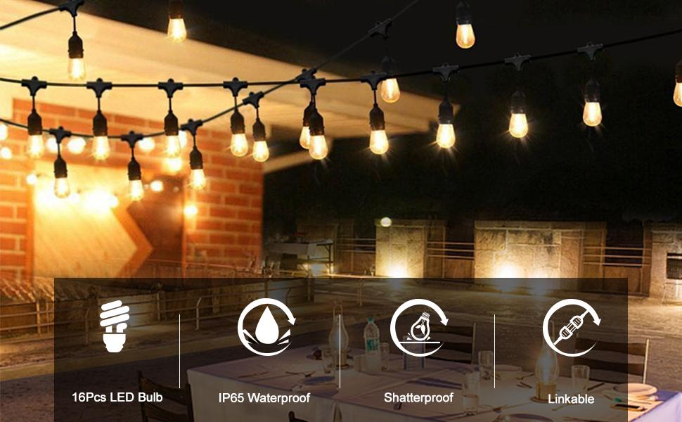 Waterproof LED Outdoor String Lights