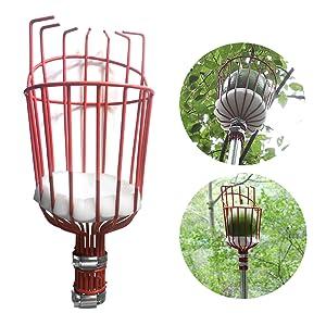fruit picker pole with basket fruit picker pole fruit picker with telescoping pole