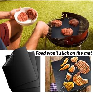 non stick grille fibre de verre barbecue viande pizza