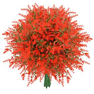 Orange Red Fake Flowers