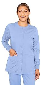 model wearing Grey's Anatomy Women's Warm-up Jacket