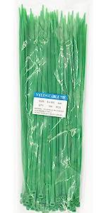 12 inch green zip ties