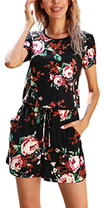 summer casual short rompers for women