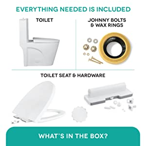 Everything included in the toilet
