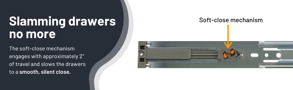 drawer slides, measurements, soft-close, drawer hardware, drawer accessories