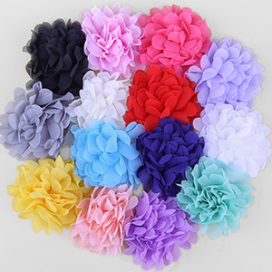 Details about  /Shabby Lace Mesh Chiffon Craft Fabric Flowers For Baby Headband Hair DIY 30pcs