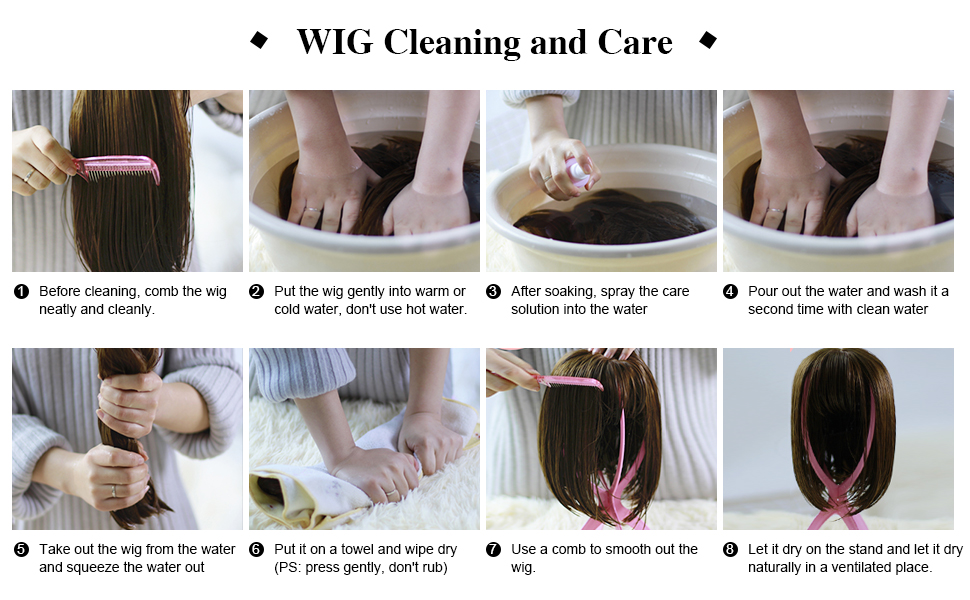 wig cleaning and care