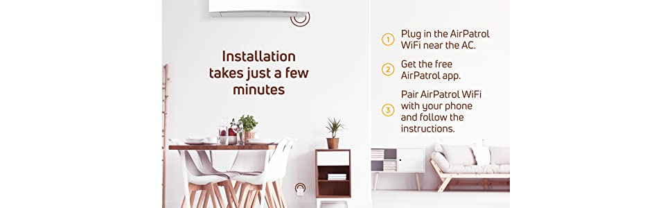 AirPatrol WiFi Smart Air Conditioner Controller Control AC Heat Pump Phone Alexa Google Home Android