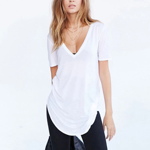Cuello en v Camisetas Verano Mujer Moda Vintage Blanca Negro Poleras Ropa Tops Tallas Grandes: Amazon.es: Ropa y accesorios