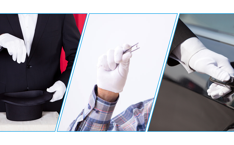 Cotton gloves are versatile for all occasions