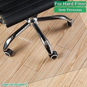 Kuyal Alfombrilla Transparente para sillas Suelos Duros 76x120cm Alfombrillas Transparentes Alfombrillas de protecci/ón de Madera//Azulejos para Oficina y hogar