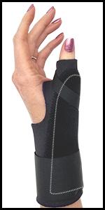 Comfort Cool Thumb Spica pain sprain broken wrist tendonitis overuse arthritis cast mueller black