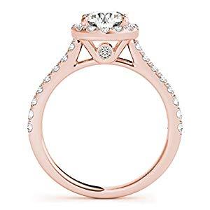 bridal set Rings Engagement rings wedding bands wedding sets  Halo engagement rings