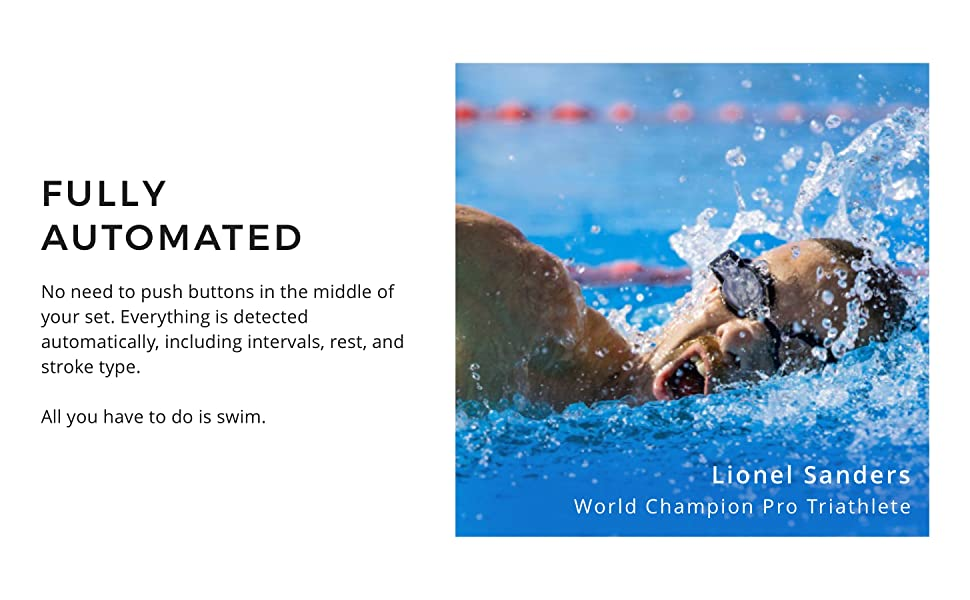 Lionel Sanders swimming with the FORM Smart Swim Goggles