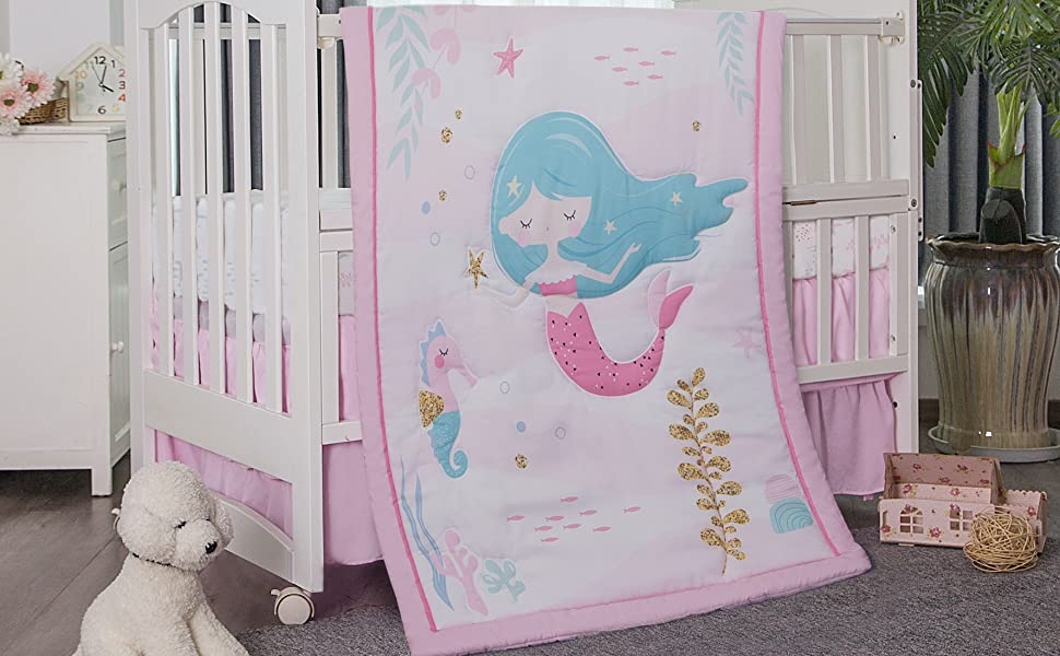 La Premura Mermaid Baby Crib Bedding Set