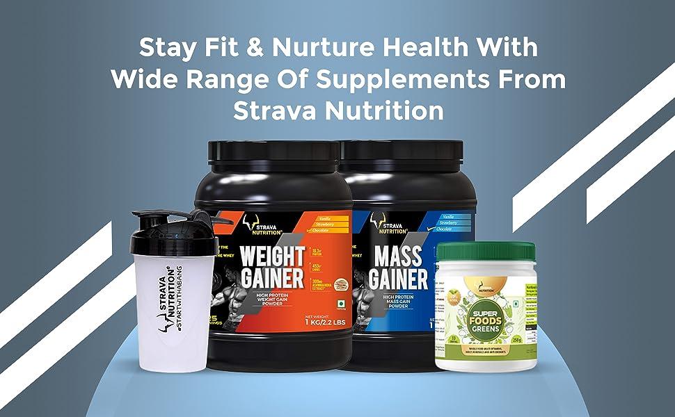 Strava Nutrition Weight Gainer - 1 kg (Chocolate Flavor) SPN-FOR1