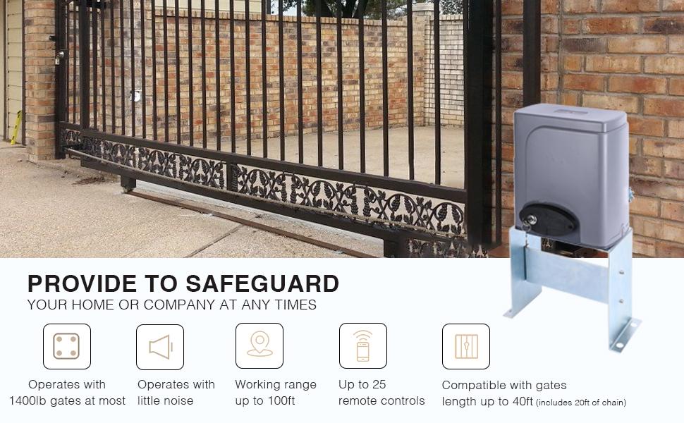 CO-Z Backup Key Remote Control for Automatic Sliding Gate Opener Hardware Sliding Driveway Security Kit 2