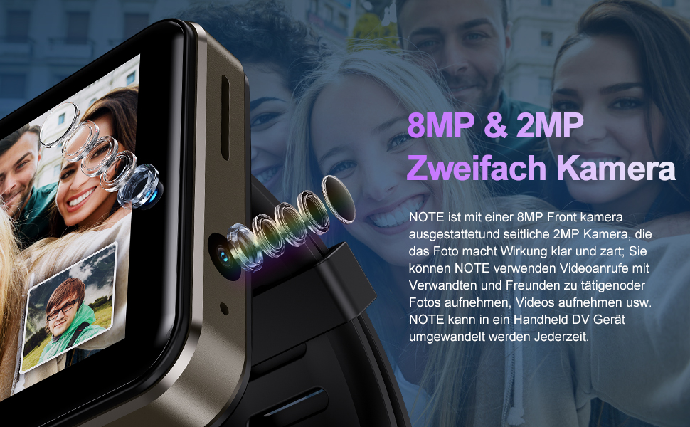 smartwatch mit zweifach kamera