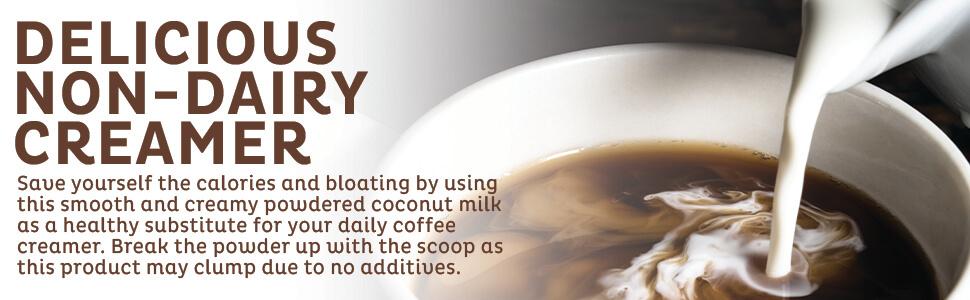 coconut milk powder dry organic creamer bulk packets vegan tea kos naturals coffee mcts keto ketones