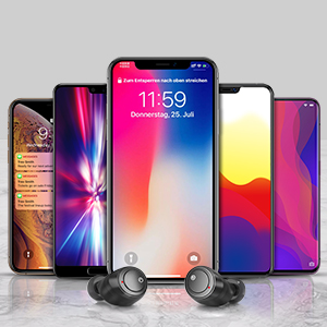 The earphones can be connected to all phones with bluetooth function