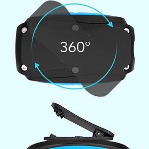 360 ° rotating clip