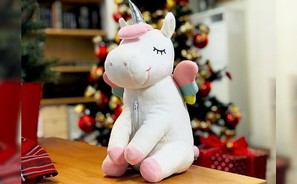 Peluche Proyector Estrellas Unicornio luz nocturna para niños ...