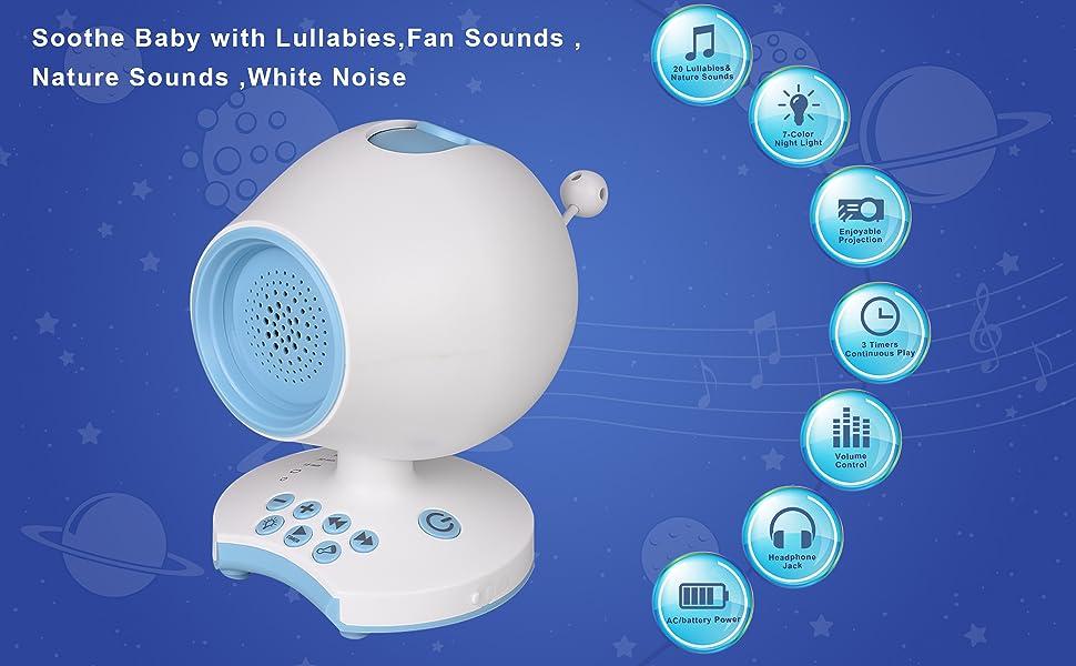 Baby Shower Geschenke Eule L/ärm Maschine Baby Beruhigungshilfe Sound Maschine mit Auto-Off Timer Stress Relief Musik Player Baby Schlaf Sound Beruhigung