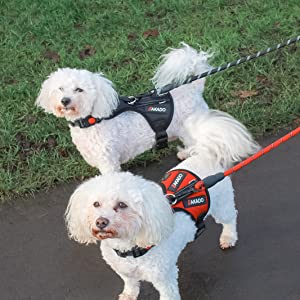 Both Colours dog harness medium small k ooch pulling with handle leash set vest cat body collar big