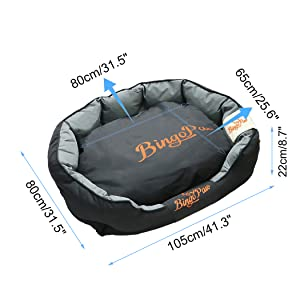Waterproof Dog Beds dog basket bed Dog bed sofa  bolster dog bed with removable cushion xl