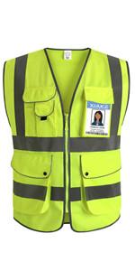 9 pockets safety vest