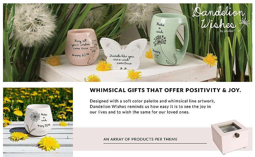 Dandelion Wishes; dandelion; mug; plaque; candle holder; photo frame; picture frame; keepsake box