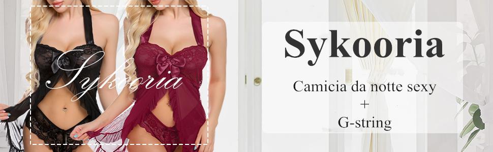 sykooria-donna-lingerie-sexy-stampa-pizzo-con-scol