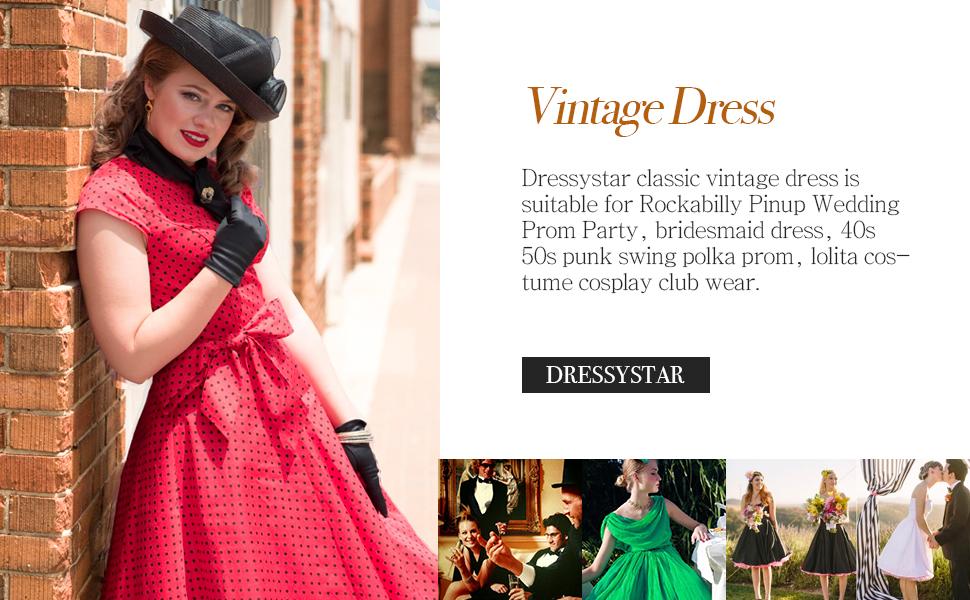 Ladies 1950/'s Retro Vintage 100/% Cotton Spot Tea Swing Dress Green Red Navy