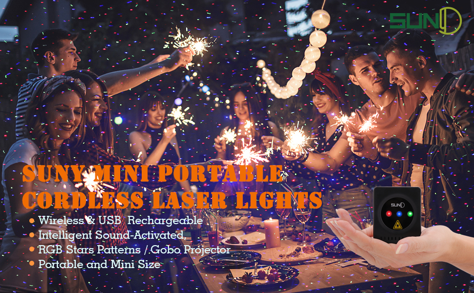 Flashandfocus.com 895732b4-a2ba-40f7-b2b4-9661a1c76984.__CR0,0,970,600_PT0_SX970_V1___ SUNY Mini Portable Cordless Laser Lights Rechargeable RGB Stars Patterns Gobo Projector Sound Activated Music DJ Party…